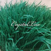 Страусина пір'яна тасьма 10-15см Forest green 1м