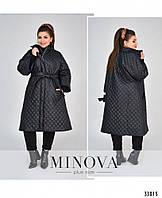 Модная женская демисезонная куртка пальто больших размеров 48 - 62