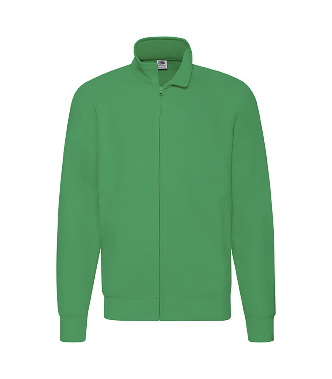 Мужская легкая кофта на молнии зеленая 160-47