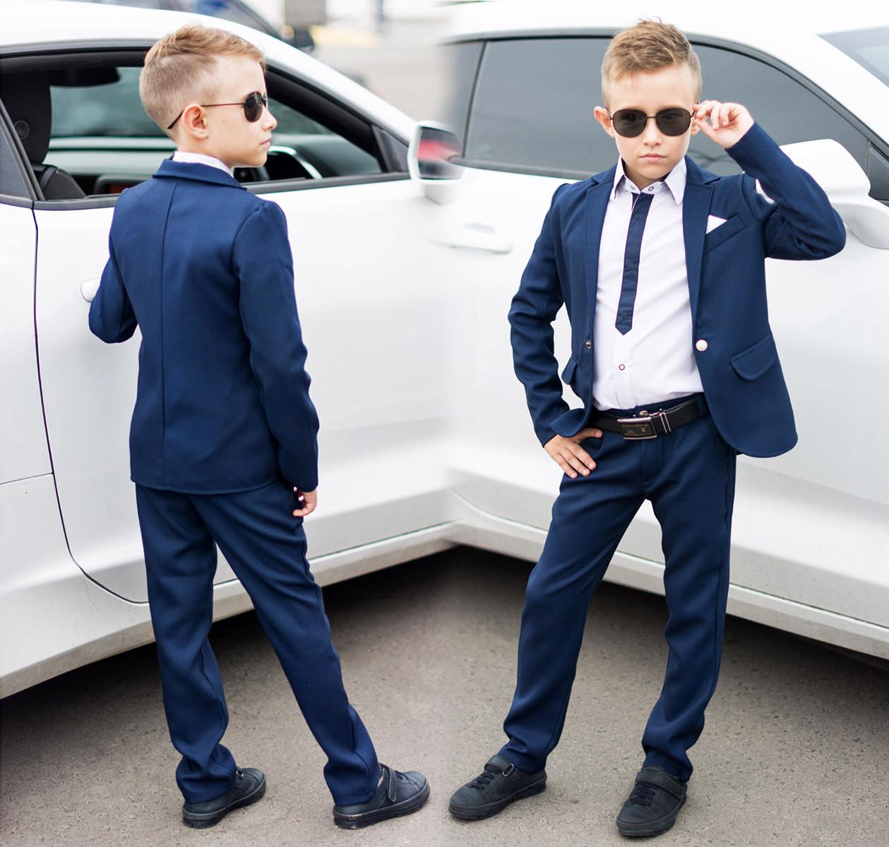 """Детский стильный костюм для мальчика 18921 """"Двойка Классика Армани"""""""