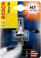 Галогенная Лампа фари дальнего света 1 987 302 079 BOSCH (H7) 55W12V PX26D Plus50 Германия (Упаковка Блистер )