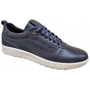 Мужские туфли из натуральной кожи  спортивные   40-45 синий тайфун