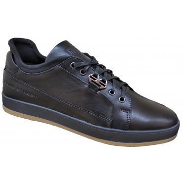 Мужские туфли из натуральной кожи    40-45 чёрный тайфун