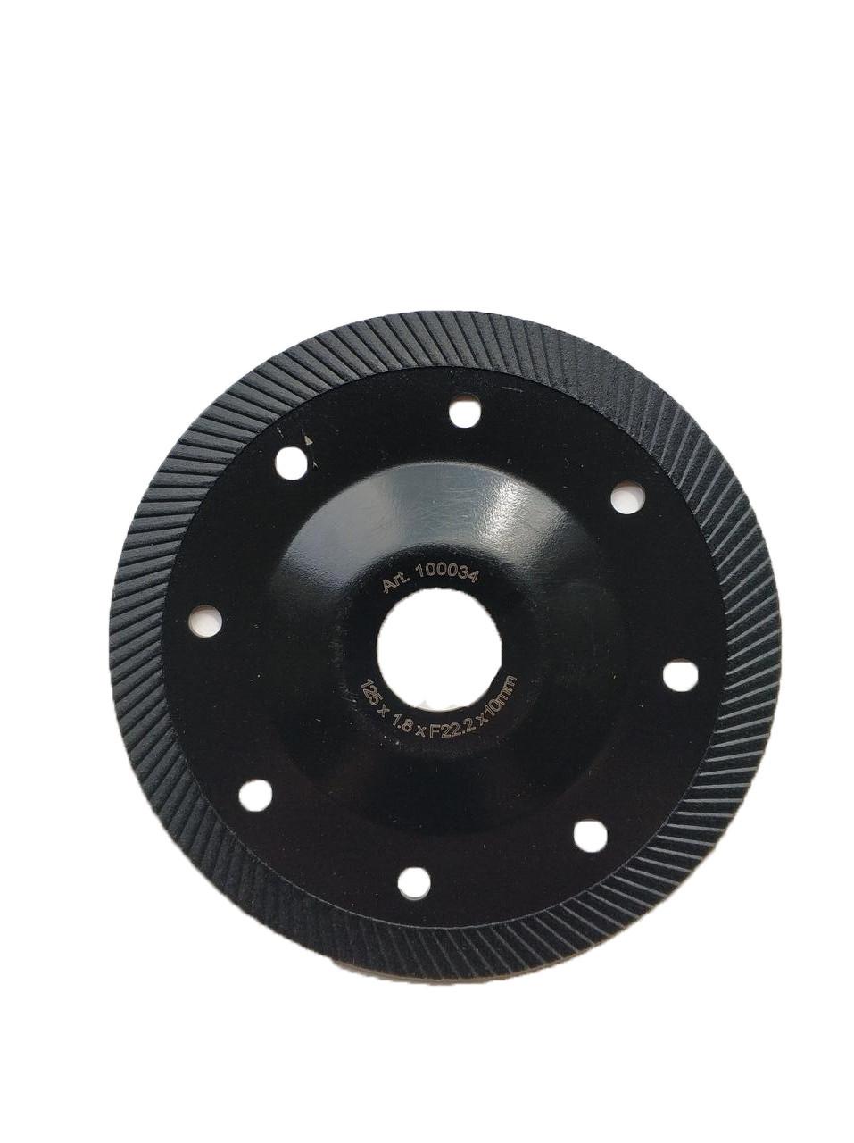 034 Диск CRAFT відрізний алмазний turbo із штампованим фланцем 125*F22,2*1,8*10mm