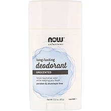"Дезодорант-карандаш NOW Foods ""Long-Lasting Deodorant"" длительного действия, без запаха (62 г)"