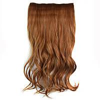 Искусственные волосы на заколках волнистые. Цвет #27н Рыжий натуральный