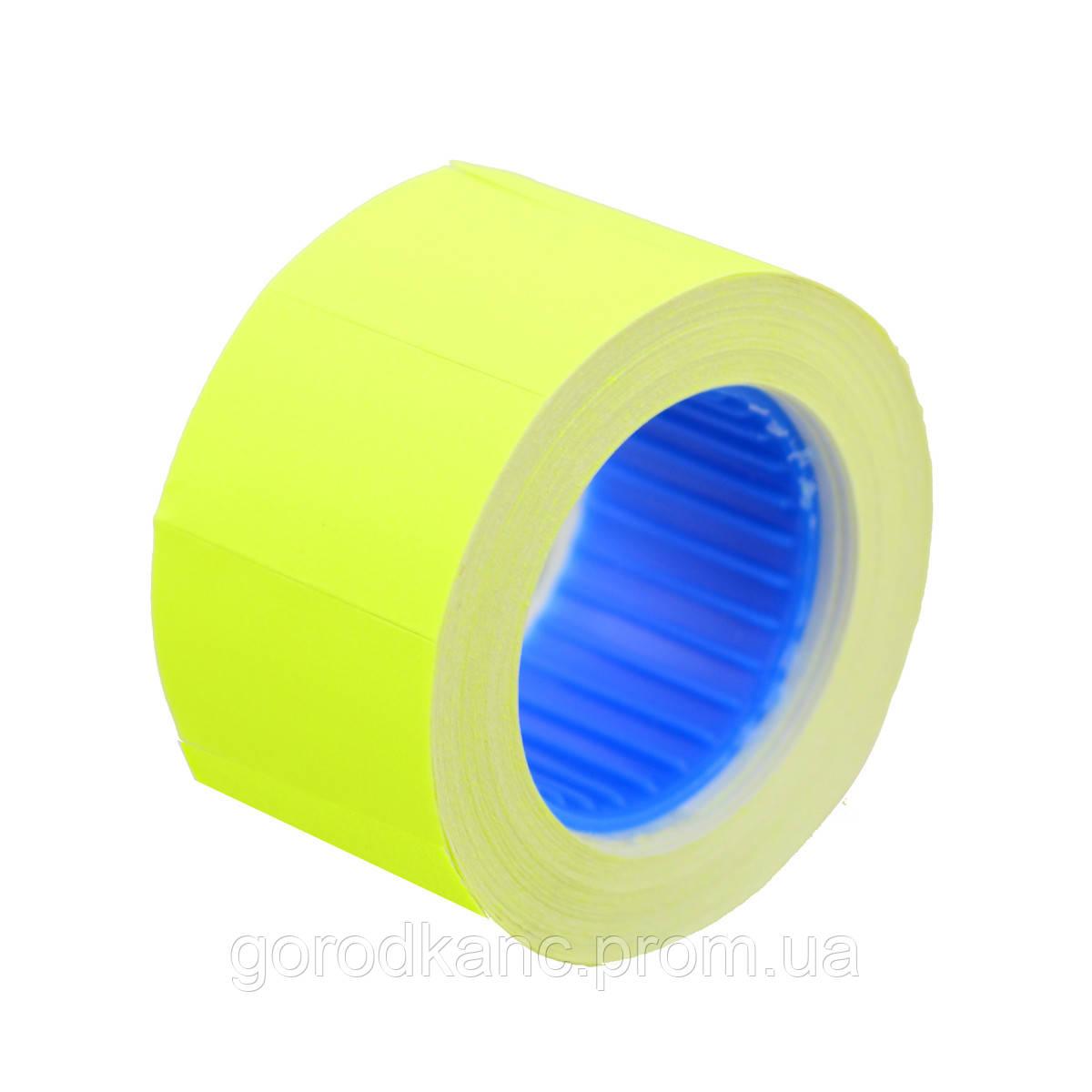 Цінник Datum флюо TCBL2616 5,60м прям.350шт/рол (жовт.) - фото 1