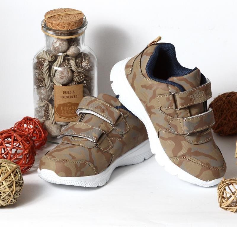 Кроссовки Хаки Fashion 27 – стелька 16 см, 28 – стелька 17 см, 29 – стелька 17,5 см