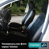 Чехлы на сиденья Lexus RX из Экокожи и Алькантары (AVTOMANIA), полный комплект (5 мест)
