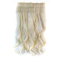 Искусственные волосы на заколках волнистые. Цвет #60 Холодный блонд, фото 1