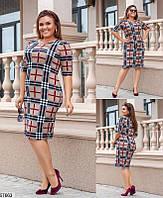 Ангоровое платье женское демисезонное больших батальных размеров 50-60, 4 цвета
