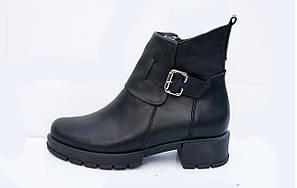 Ботинки женские кожаные весенние  36-41 черный