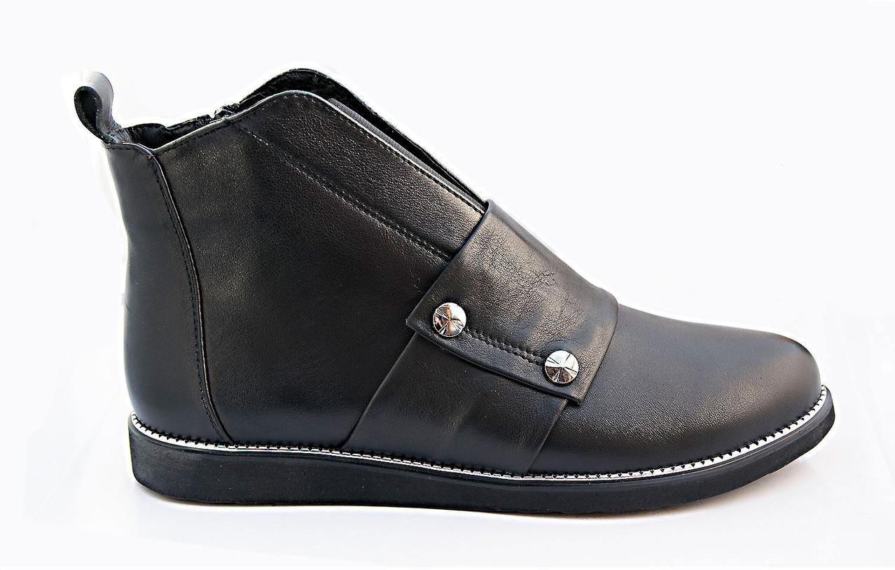 Ботинки женские кожаные  36-41 черный