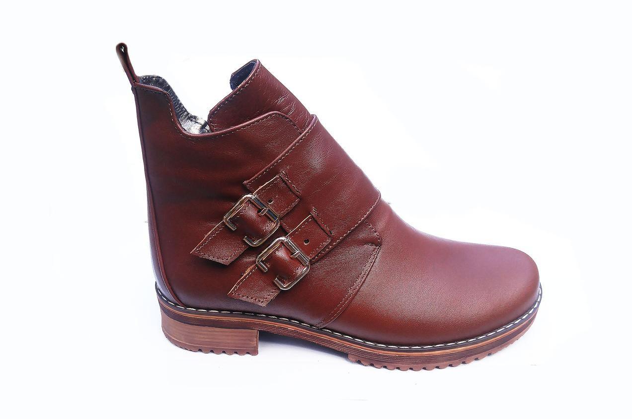 Модные ботинки женские  из натуральной кожи  36-41 коричневый