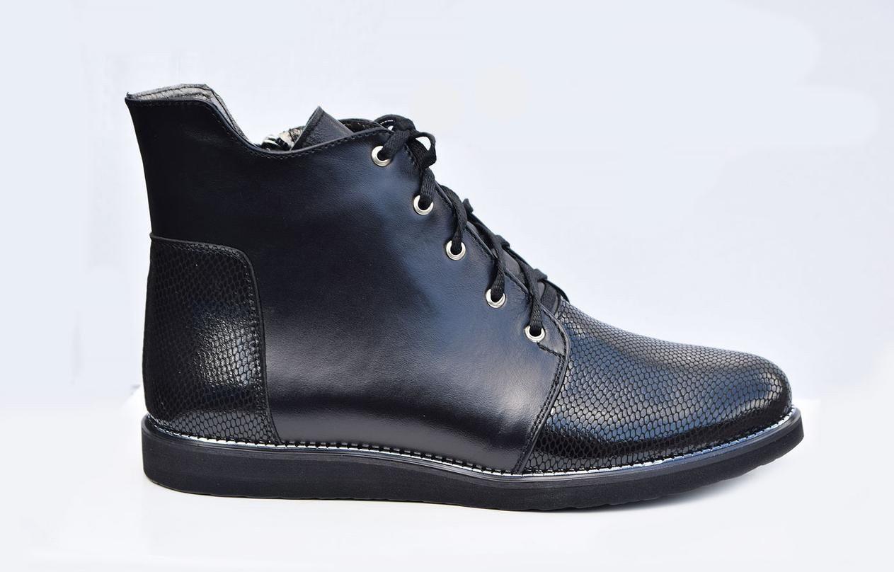 Демисезонные женские ботинки  из натуральной кожи36-41 черный