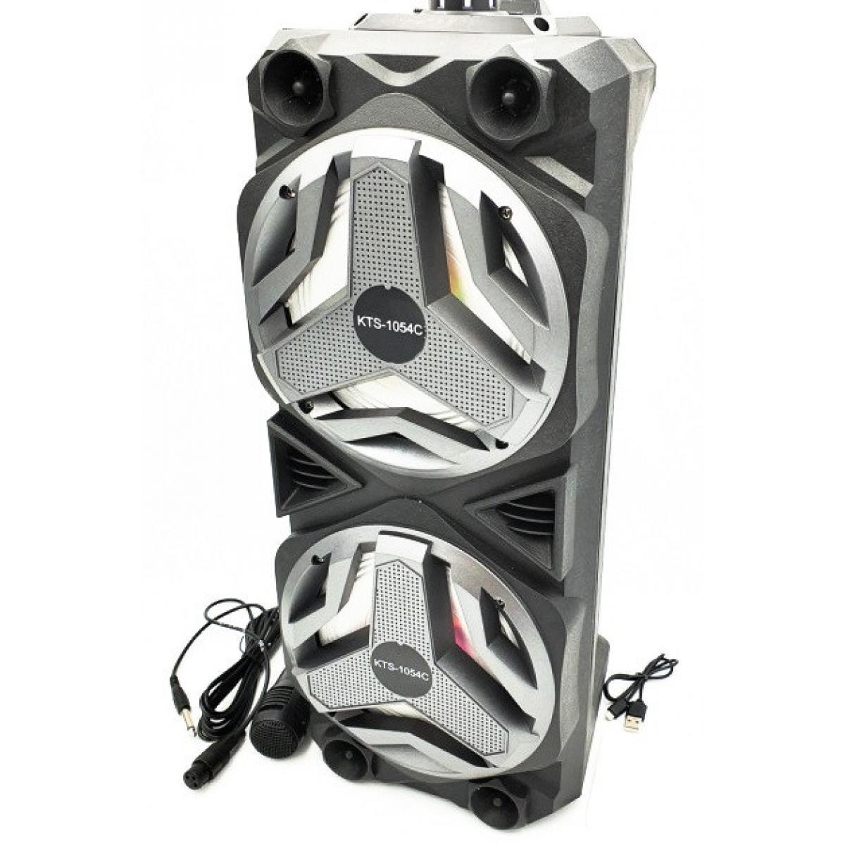 Портативная Bluetooth колонка KTS-1054 с проводным микрофоном