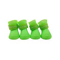 Непромокаемые резиновые сапоги для собак, зеленый