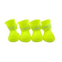 Непромокаемые резиновые сапоги для собак, желтый