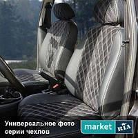 Чехлы на сиденья Chevrolet Lacetti 2004-2017 из Экокожи и Алькантары (AVTOMANIA), полный комплект (5 мест)