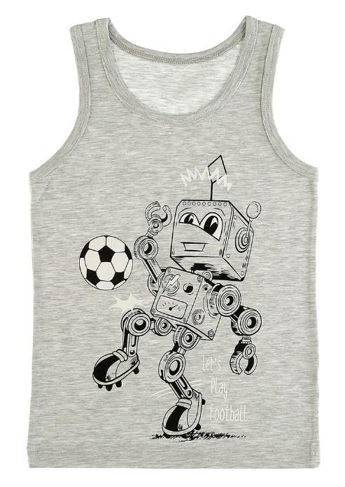 """Майка детская для мальчика """"Робот"""", 2-3 года (рост 98-104)"""