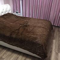 "Плед-покрывало травка""ШОКОЛАД""/Плед Евро размер 220х240см/Покрывало на кровать"