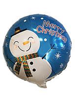 Воздушный фольгированный шар Снеговик