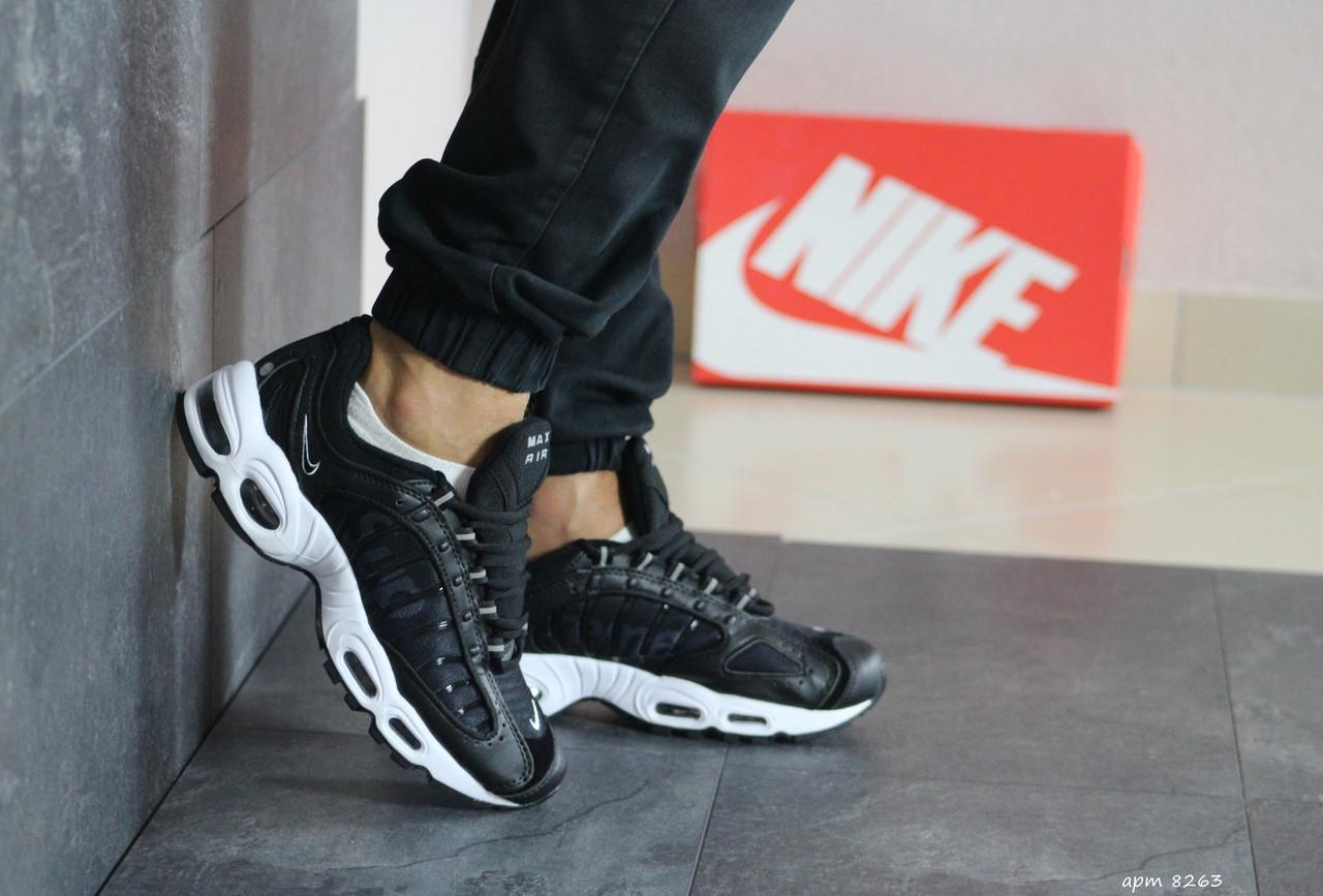 Мужские демисезонные кроссовки Nike Supreme,черно-белые