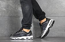 Мужские демисезонные кроссовки Nike Supreme,черно-белые, фото 2
