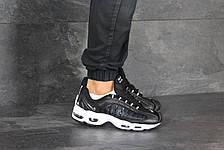 Мужские демисезонные кроссовки Nike Supreme,черно-белые, фото 3