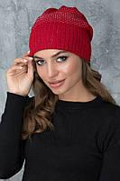 Яркая женская шапочка Кэт красная