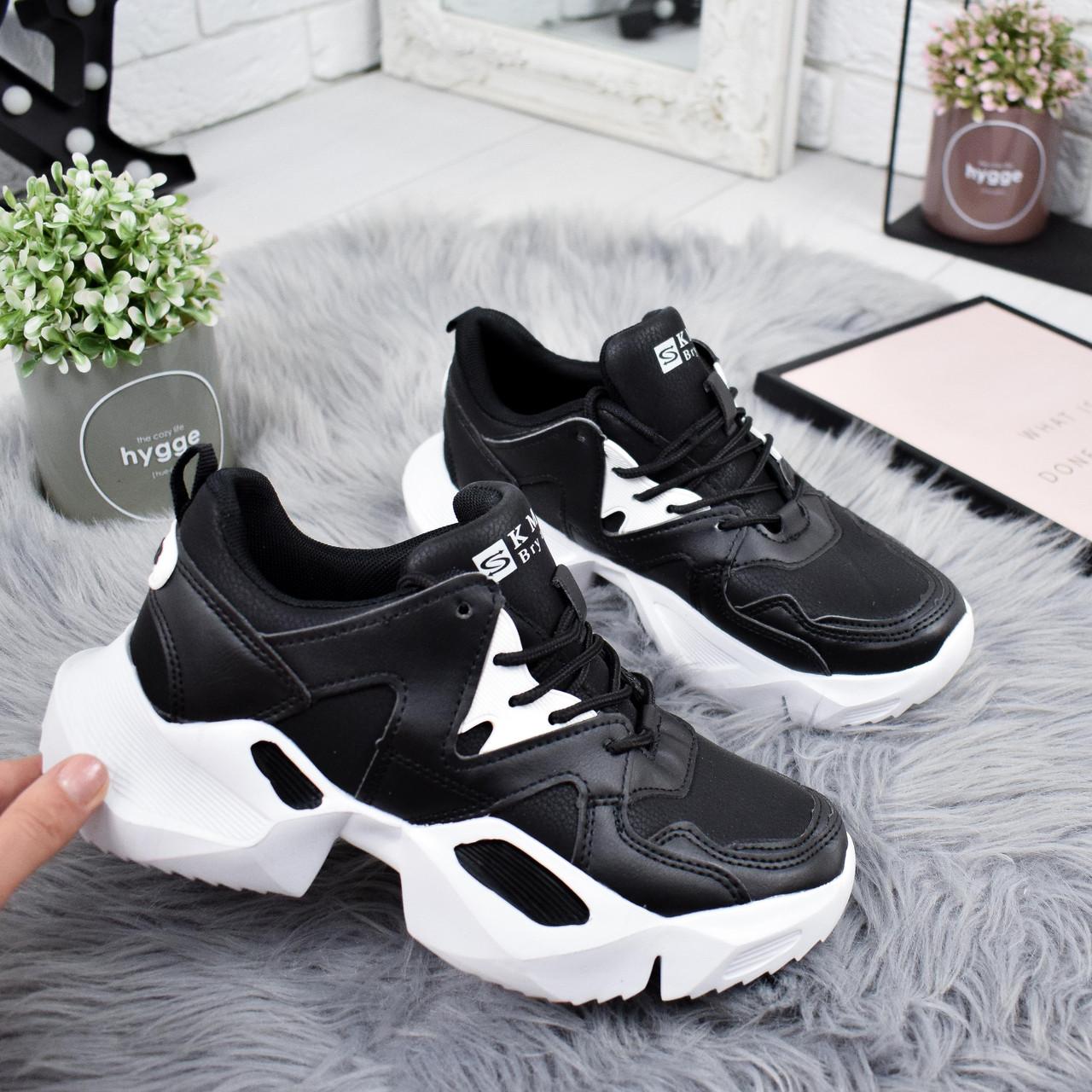 Кроссовки женские Brows белые + черный 8298