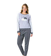 Женская пижама интерлок кофта и штаны, фото 1