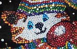 """Мозаїка з паєток """"Котик з серцем"""", Пм-01-08, фото 9"""