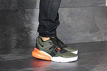 Кроссовки мужские Nike Air Force 270, замшевые,темно зеленые, фото 3
