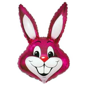 Фольгированный шар Кролик 42см х 24см Малиновый