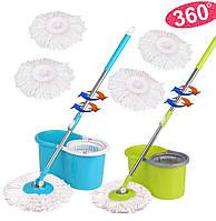 Швабра Spin And Go с пластиковым отжимом и ведром - легкая уборка