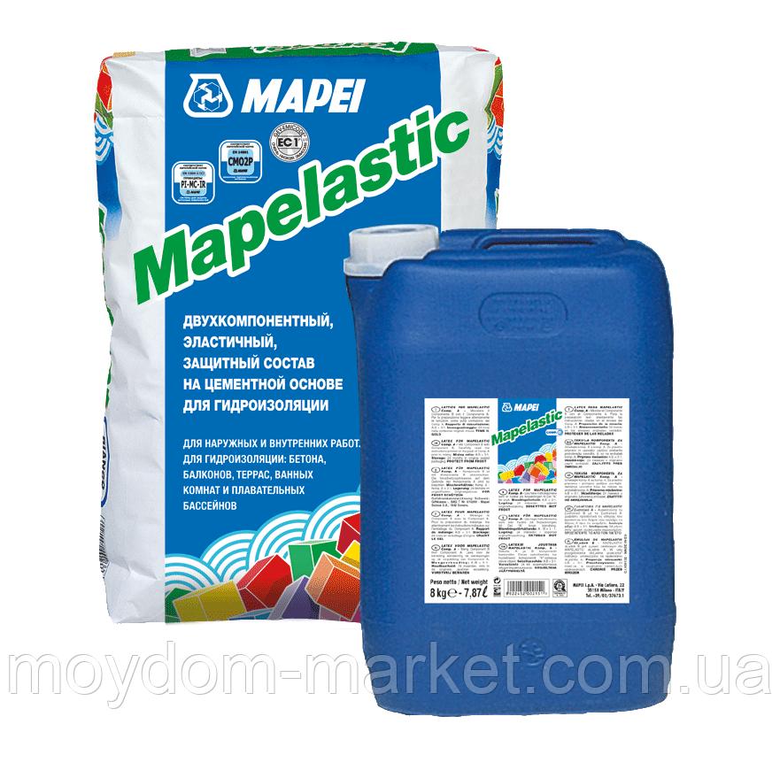 Гідроізоляційна суміш Mapei Mapelastic к-кт 32(24+8)кг, для терас, балконів, душових