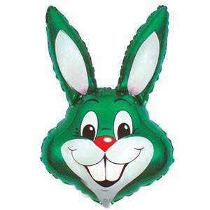 Фольгированный шар Кролик 42см х 24см Зеленый