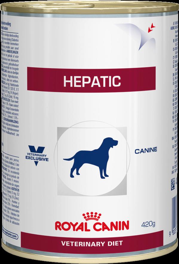Лечебный корм для собак для здоровья печени Royal Canin HEPATIC CANINE Cans 0,42 кг
