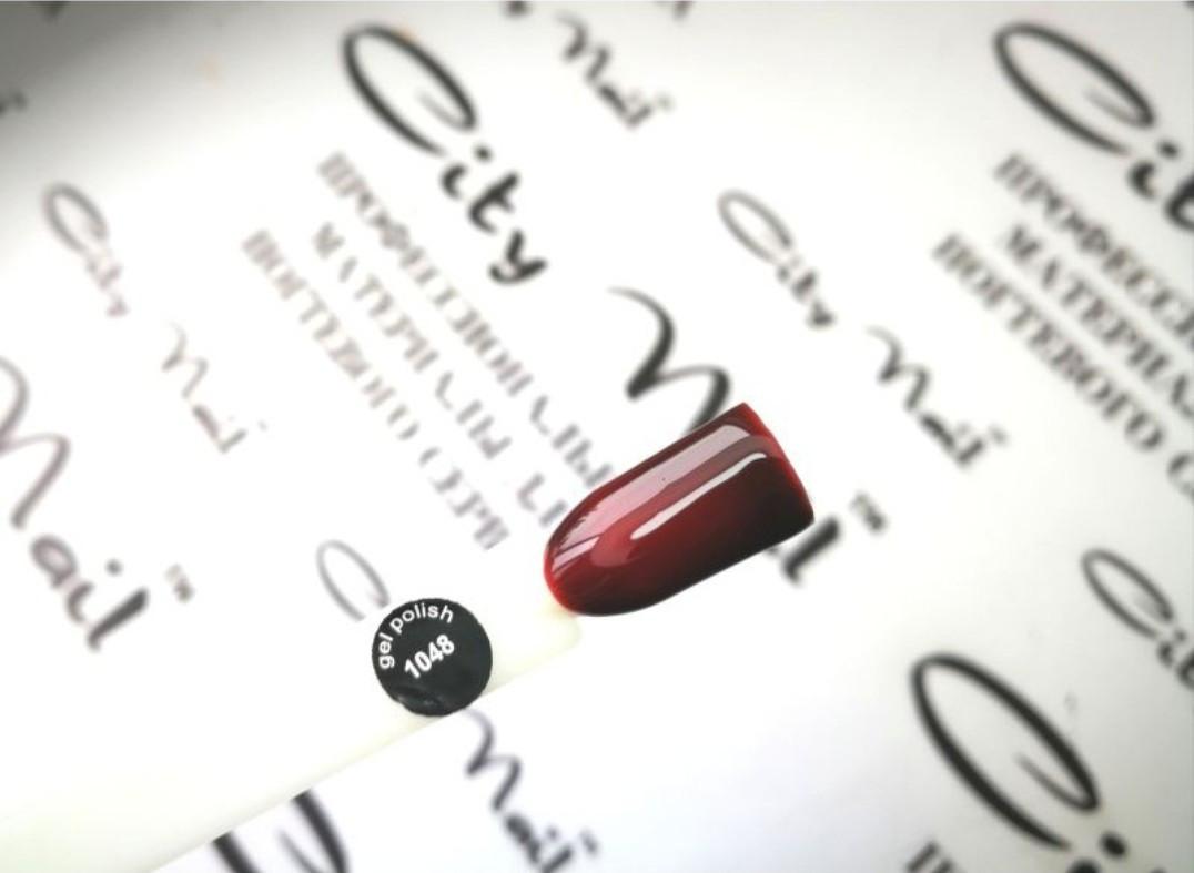 Гель лак CityNail 1048 темно-винный (красный. вишневый) 10мл