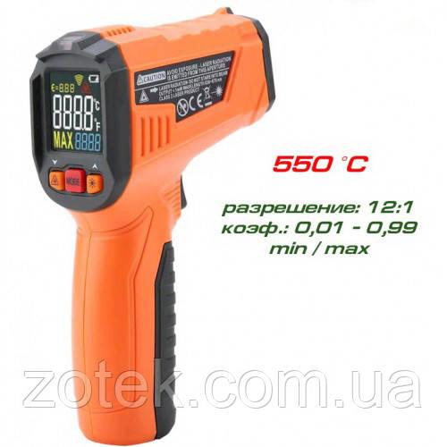 PEAKMETER PM6519B -50 ~ 550ºC Пирометр  EMS: 0,1-1,00, Инфракрасный
