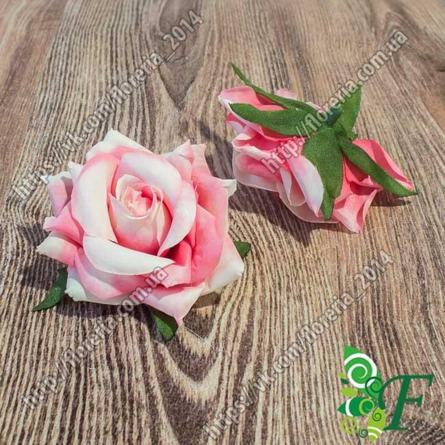 Головка розы Конфетти розовый