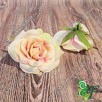 Головка розы Софи персик-сиреневый