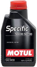 MOTUL  SPECIFIC 504 00 507 00 5W-30 1л