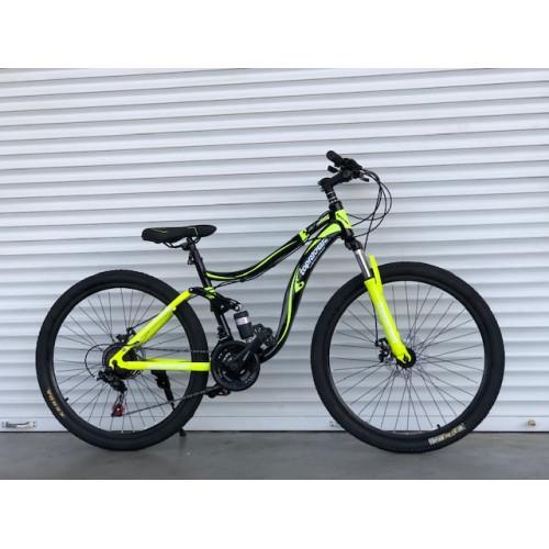 Велосипед подростковый двухподвесный 26 дюймов 14 рама синий