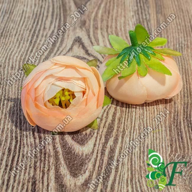 Головка Камелия с тычинками персиковый