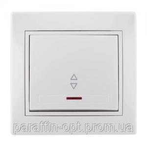 Выключатель проходной с подсветкой Lezard Mira (белый)