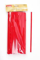 Набор трубочек пластиковых для напитков без изгибаEM0214Empire, 50 штук, цвет красный