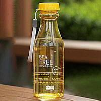 Спортивна Еко пляшка BPA Free для води та напоїв 550 мл Жовтий (SUN5359)
