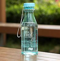 Спортивна Еко пляшка BPA Free для води та напоїв 550 мл Блакитний (SUN5360), фото 1